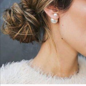 Dior Tribal Earrings Pearl